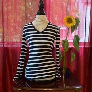 {Express} Striped Long Sleeved Tee